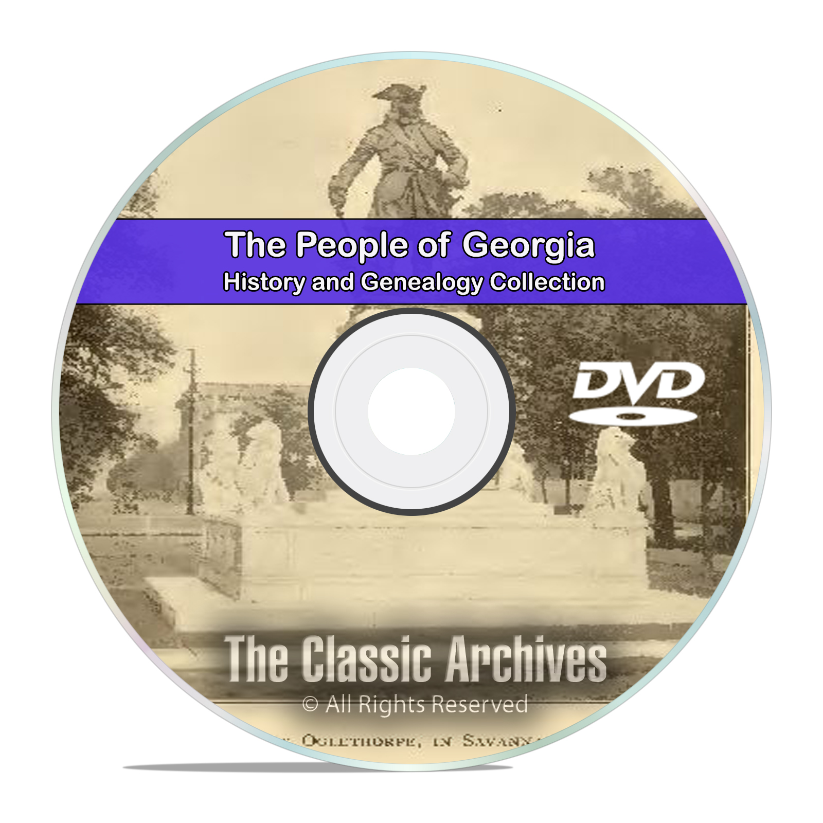 Georgia GA, People Cities and Towns, History and Genealogy -141 Books DVD